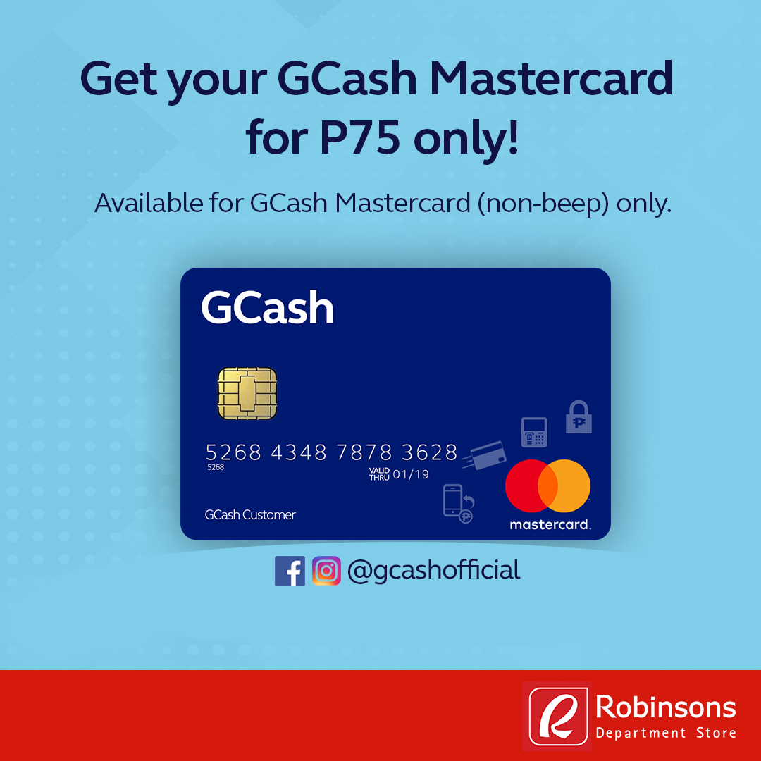 Get your GCash Mastercard for P75 only