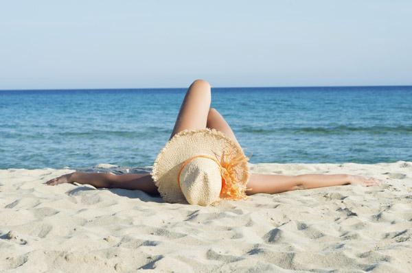 Quemadura sol viaje playa