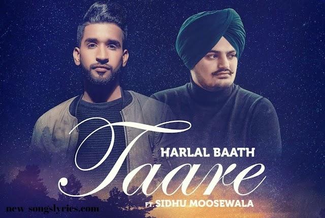 TAARE LYRICS - Sidhu Moosewala| Latest Punjabi Song 2020