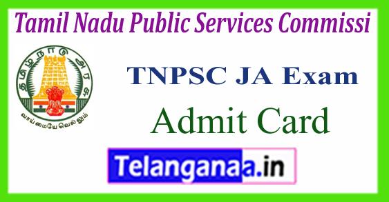 TNPSC Tamil Nadu Public Services Commission Jr Assistant Admit Card 2017