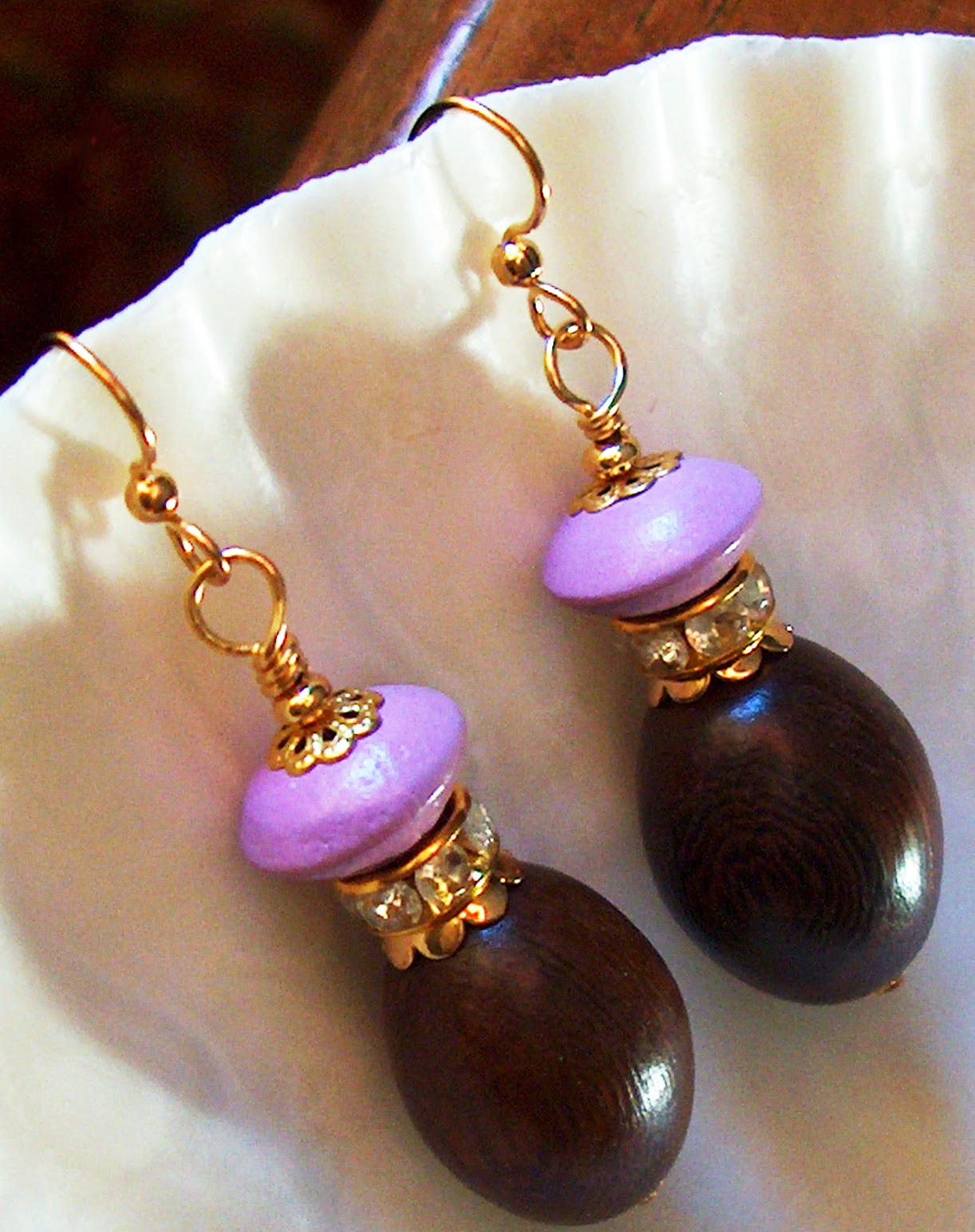 Purple Wood Earrings Kirsten USA