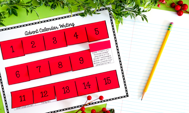 Christmas Advent Writing Prompts Calendar