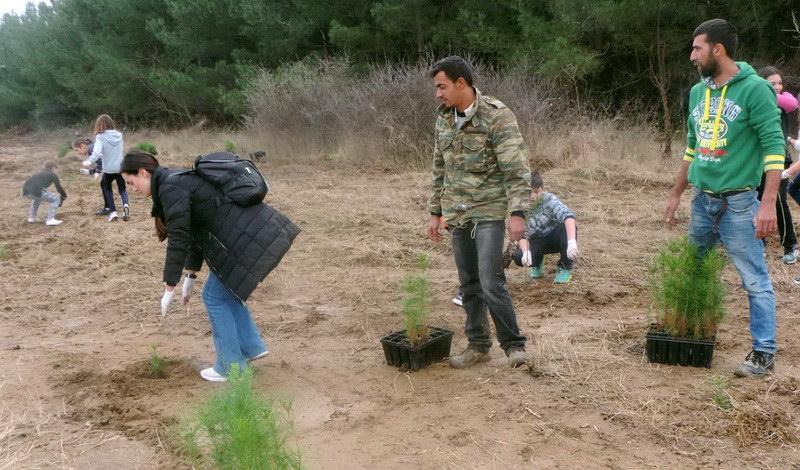 Δάσωση έκτασης 10 στρεμμάτων στην Πανεπιστημιούπολη Κομοτηνής από το Δημοκρίτειο Πανεπιστήμιο Θράκης