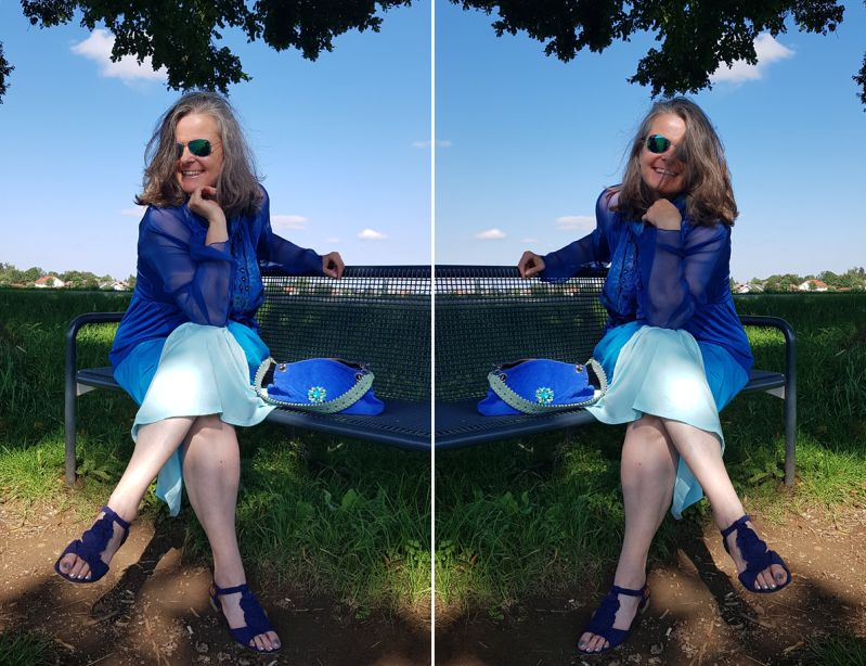Monochrom in Sommerfarben - Meeresblau