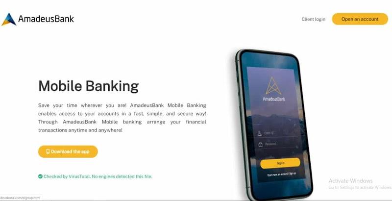 [SCAM] Amadeus Bank News: Phát hành mobile app trên hệ điều hành Android