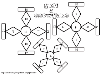 Mrs. Samuelson's Swamp Frogs: Melt a Snowflake with Dice