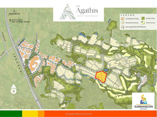 Lokasi Cluster Agathis Golf Residence
