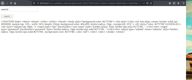 php security exploit html injection