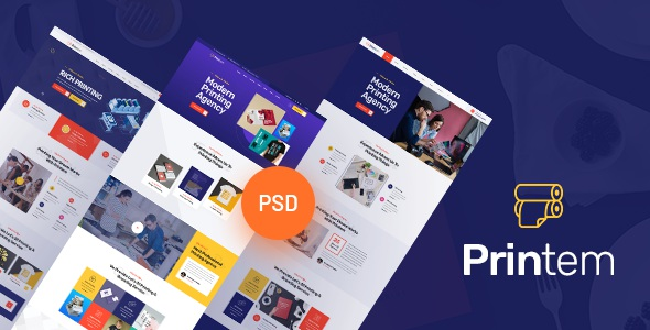 Best Printing Company PSD Template