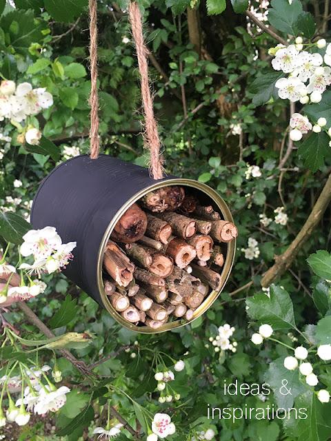 Nisthilfe für Bienen aus Upcycling Dose basteln