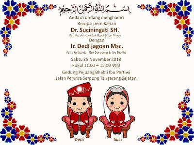 Download  gratis undangan pernikahan muslimah dengan powerpoint
