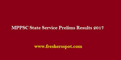 MPPSC State Service Prelims Results 2017