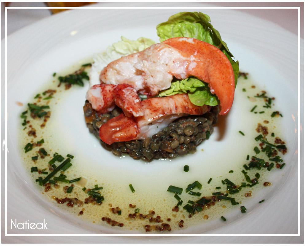repas restaurant homard