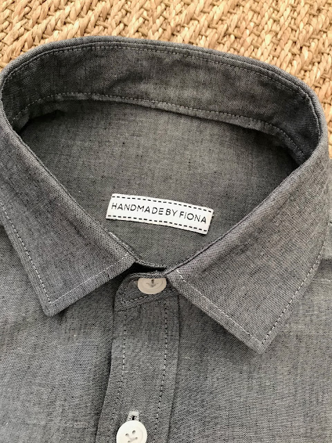 Diary of a Chain Stitcher: Thread Theory Fairfield Button Up Shirt in Grey Cotton Chambray