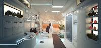 Mars base interior design