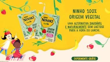 Amostras Grátis: Post Patrocinado está distribuindo amostras grátis do Ninho 100% Origem vegetal