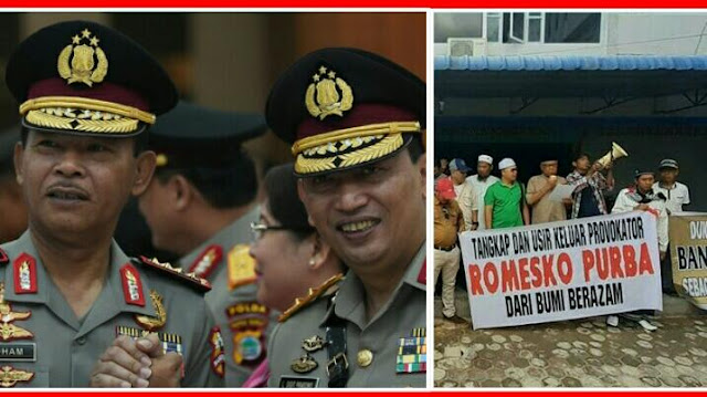Laksanakan Perintah Tegas Presiden Jokowi, Polri Resmi Buru Provokator Demo Penolak Pembangunan Gereja Katolik Di Karimun