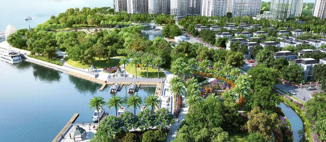 Cảnh quan xanh khu đô thị Vân Canh An Lạc