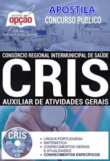 apostila concurso cris consocio 2017 - AUXILIAR DE ATIVIDADES GERAIS