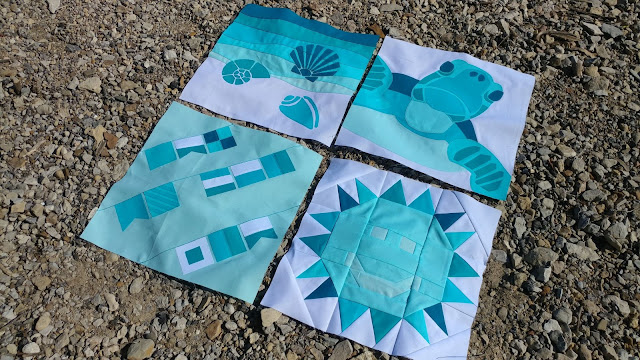 QAL By the Sea nautical quilt blocks