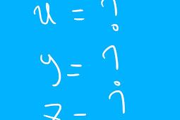 Cara menentukan nilai x, y, dan z pada bentuk penjumlahan dan pengurangan matrik