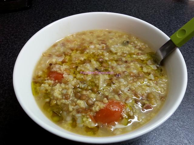 Zuppa miglio, lenticchie e grano saraceno