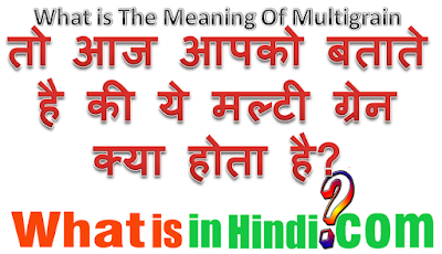 What is the meaning Multigrain in Hindi