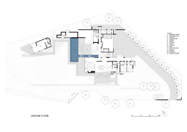 Picture of modern villa ground floor plan