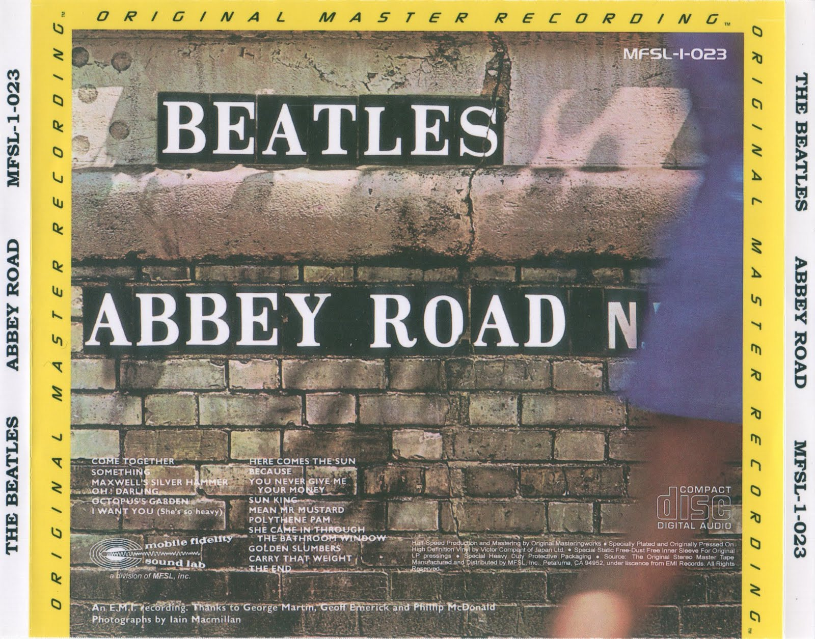 The Be・・・・: Abbey Road (UK Stereo LP - MFSL) - The Beatles