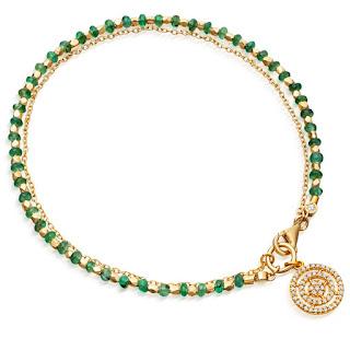 Modern Green Jewellery -  Astley Clarke Emerald Bracelet