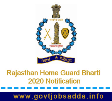 Rajasthan Home Guard Bharti 2020 Notification Out Apply Online for 2500 Posts