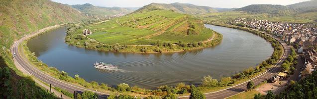 Moselschleife Bremm Aussichtspunkt - Roteiro pelo Rio Mosel (Alemanha) com vinícolas