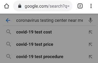 Google Maps will give information about Corona Testing Center, search like this