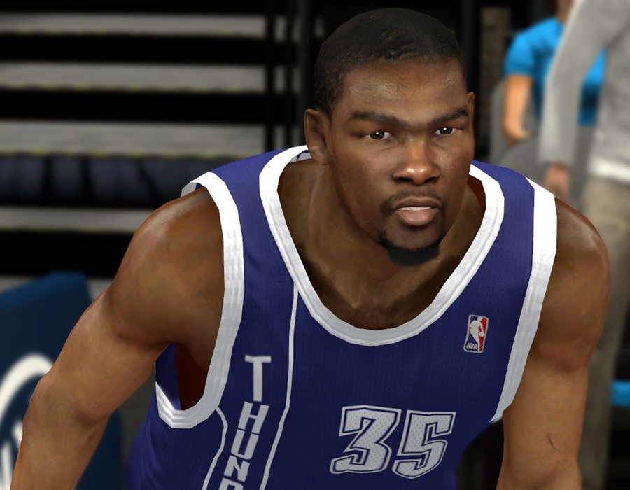 NBA 2K14 Kevin Durant Real Face Mod