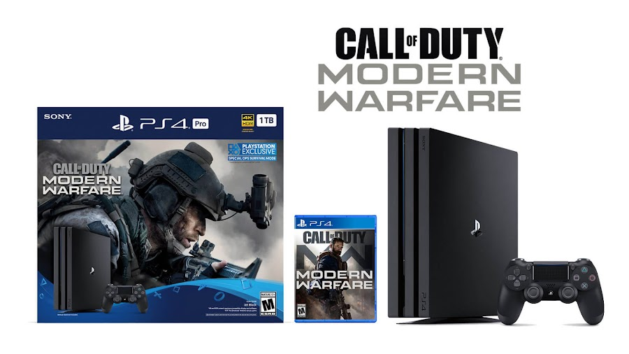 call of duty modern warfare ps4 pro bundle sony activision fps