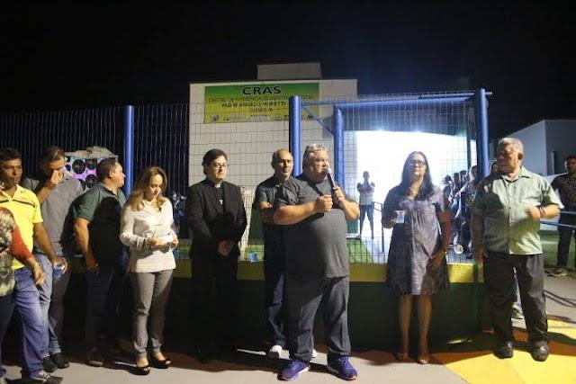 Inauguração do CRAS em Ourém recebe visita de autoridades na cerimonia