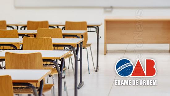 oab adia exame ordem 30 agosto
