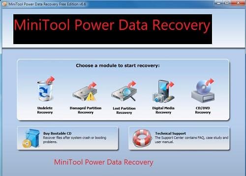 برنامج MiniTool Power Data Recovery Free