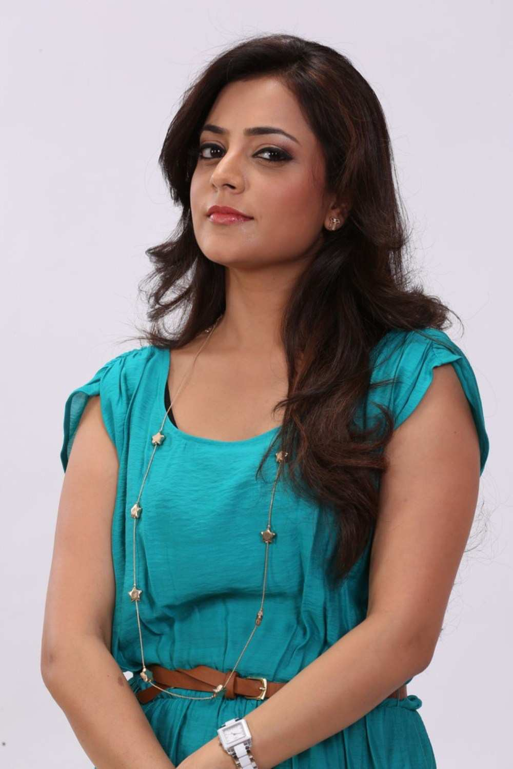 Nisha Agarwal Latest Stills In Blue Dress