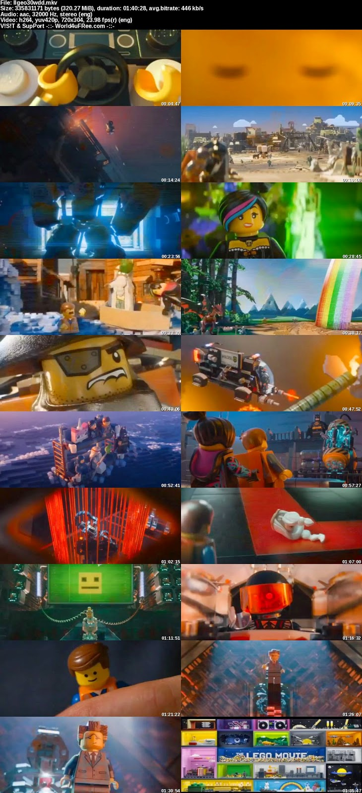 Watch Full Movie The Lego Movie 2014 HD WEBRip 480p 300mb.