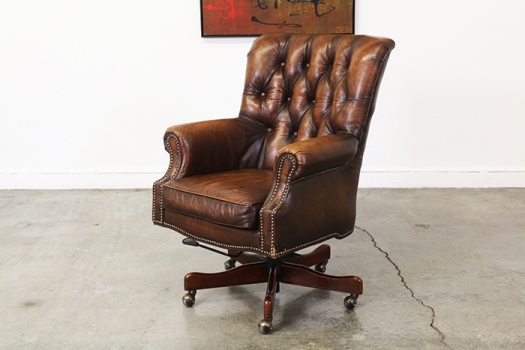 vintage leather office chair uk antique leather office chair