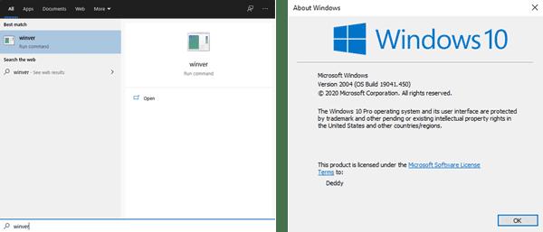 cara cek versi windows 10