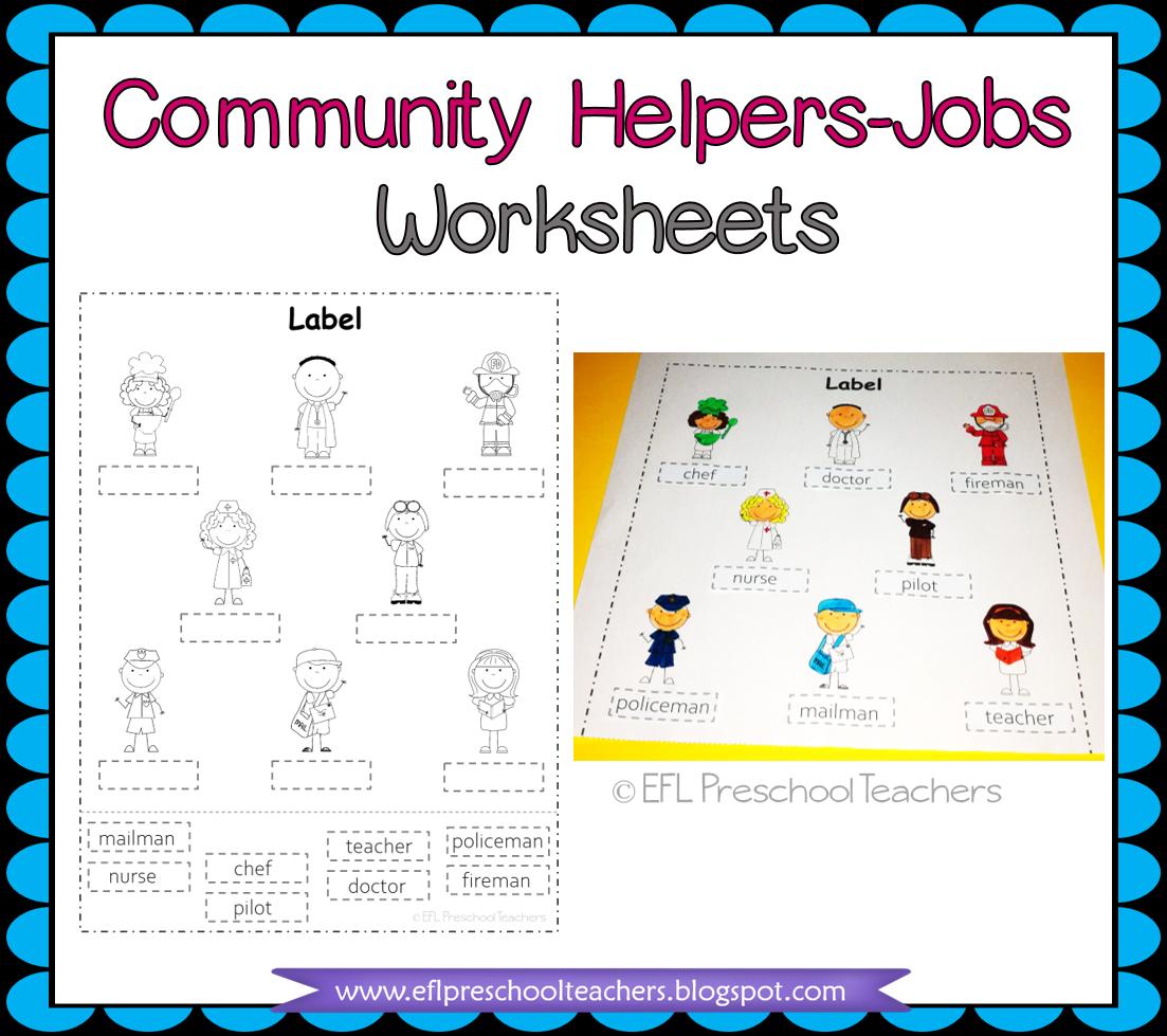 Esl Efl Preschool Teachers Esl Community Helpers