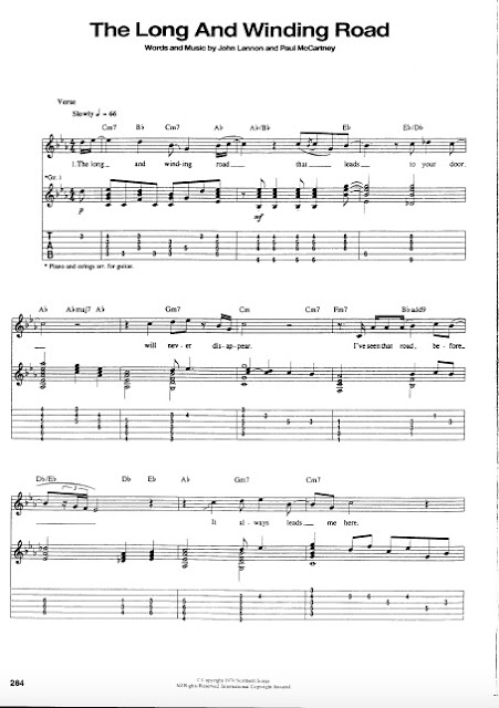 The Beatles - The Long and Winding Road partitura