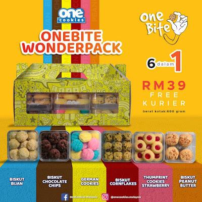 OneCookies OneBite Wonderpack biskut viral onecookies biskut sedap  penghantran percuma  6 biskut dalam 1 pack.