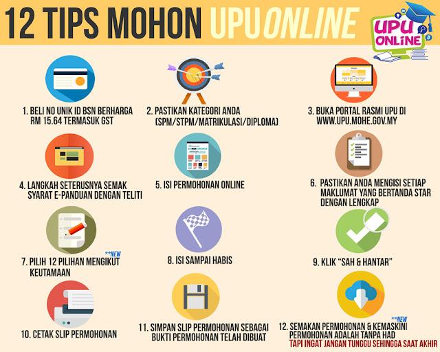 Official UPU Online Application Tips (Permohonan UPU)