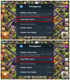 Fitur Terbaru XMod Copy Player Layout & Dead Base Search