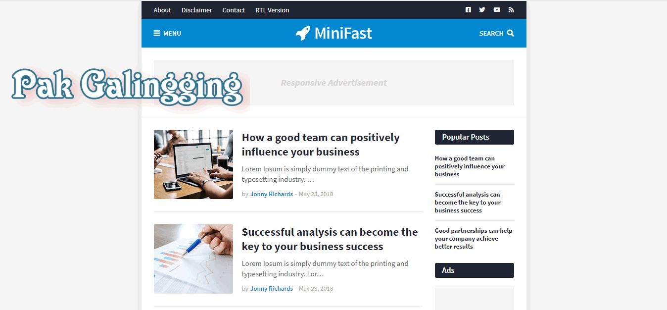 Download Minifast Blogger Template Premium