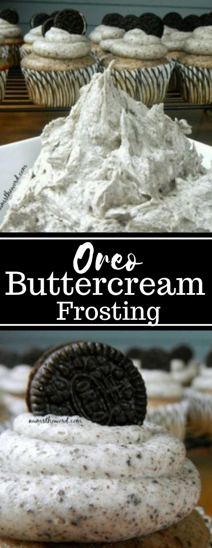 Oreo Buttercream Frosting #oreo #dessert #butter #snack #easy