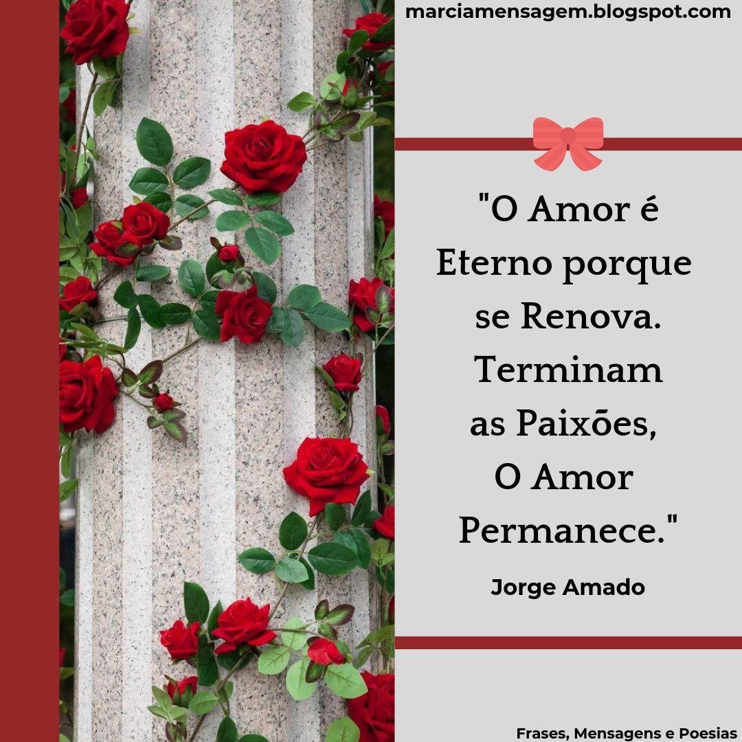 Frasesmensagens E Poesias O Amor é Eterno